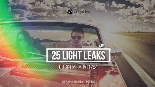 Thumbnail for 25 Light Leaks Pack | v.4