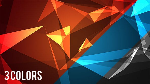 Abstract Glassy 3D Polygonal Background