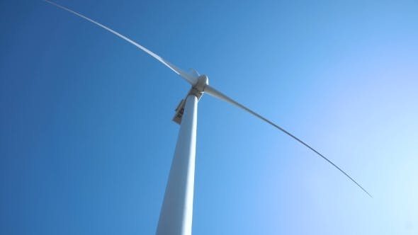 Thumbnail for Wind Turbine Against Clear Sky on Sunny Day