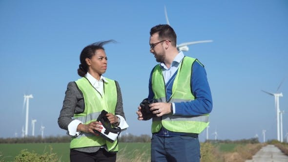 Thumbnail for Two Wind Farm Engineers in Virtual Reality Googles
