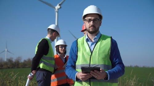 Portrait of Engineer of Windfarm