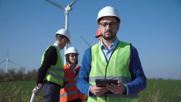 Thumbnail for Portrait of Engineer of Windfarm