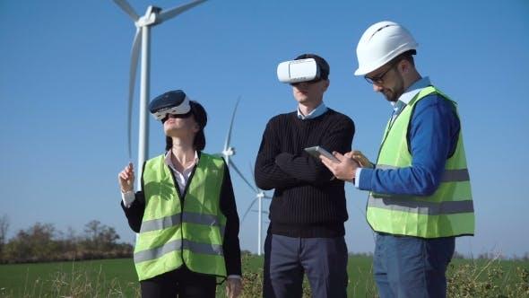 Thumbnail for Ingenieure mit Virtual Reality Headset