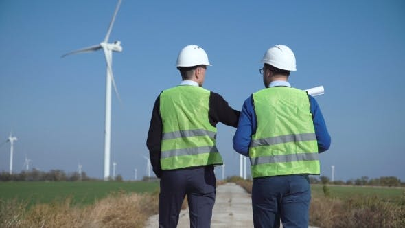 Thumbnail for Two Engineers Discussing Against Wind Farm