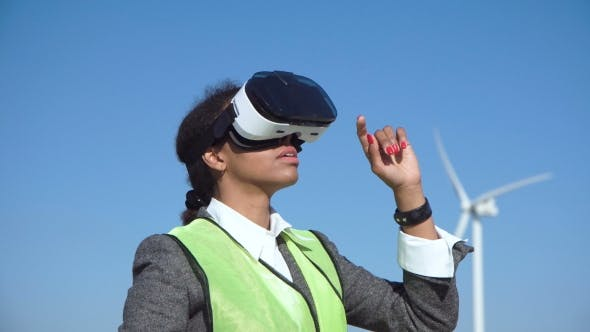 Thumbnail for Woman Engineer with Virtual Headset