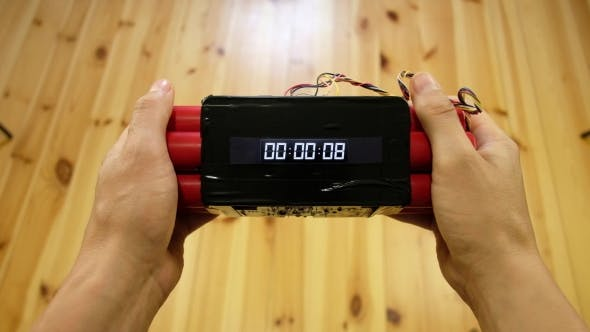 Cover Image for Red Bomb with Digital Timer