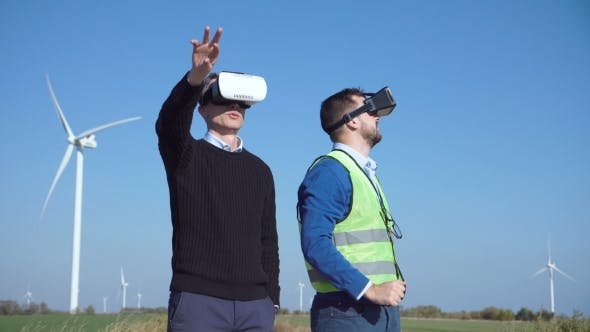 Engineers with Virtual Reality Headset