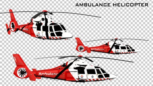 Ambulance Helicopter - 3 Pack
