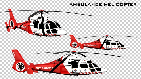 Thumbnail for Ambulance Helicopter - 3 Pack
