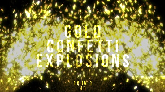 Thumbnail for Gold Confetti Explosions