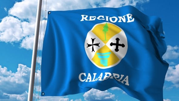 Thumbnail for Waving Flag of Calabria a Region of Italy