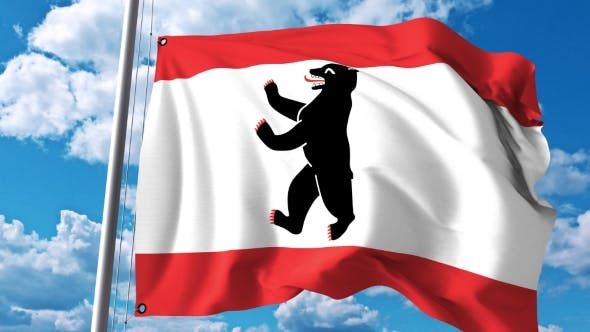 Thumbnail for Waving Flag of Berlin the Capital and a State of Germany