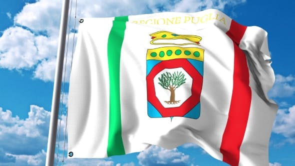 Thumbnail for Waving Flag of Apulia a Region of Italy