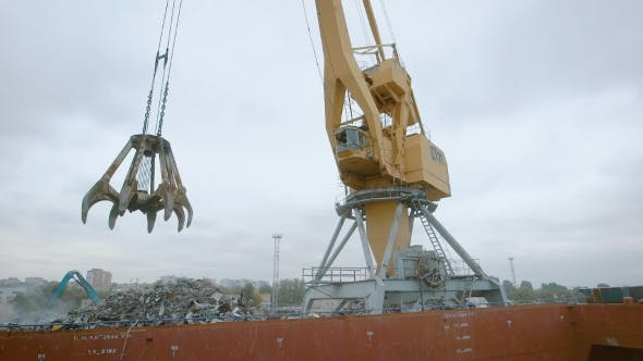 Thumbnail for Grab Bucket Crane for Recycling Metallic Waste