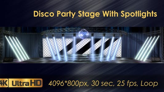 Thumbnail for Disco Party Stage With Spotlights