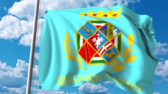 Thumbnail for Waving Flag of Lazio a Region of Italy