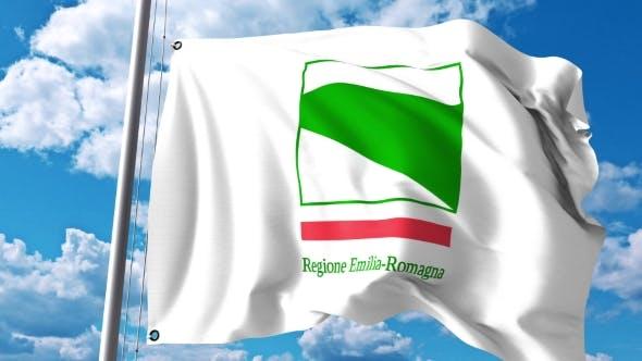 Thumbnail for Waving Flag of Emilia-Romagna a Region of Italy