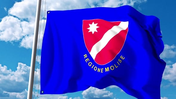 Thumbnail for Waving Flag of Molise a Region of Italy