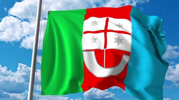 Thumbnail for Waving Flag of Liguria a Region of Italy