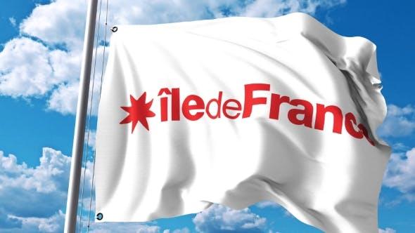 Thumbnail for Waving Flag of Ile-de-France a Region of France