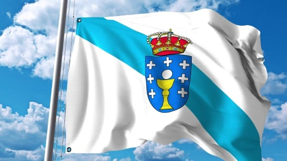 Thumbnail for Waving Flag of Galicia an Autonomous Community in Spain