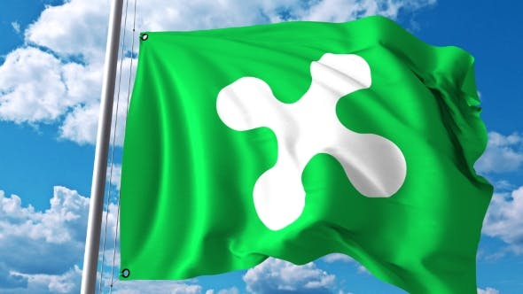 Thumbnail for Waving Flag of Lombardy a Region of Italy