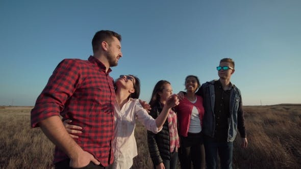 Thumbnail for Group of Friends Standing in Rural Countryside