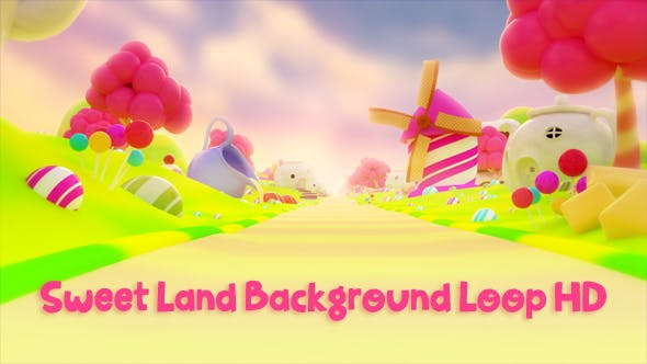 Thumbnail for Sweet Land Background Loop  HD