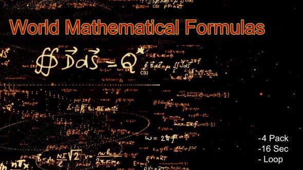 Thumbnail for World Mathematical Formulas Pack 4