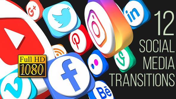 Thumbnail for Social Media Transitions (Full HD)