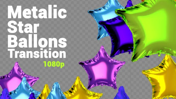 Thumbnail for Metalic Star Ballons Transition