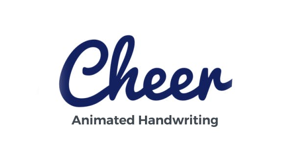 Cheer - Animated Handwriting Typeface