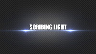 Scribing Light For Logo And Titles