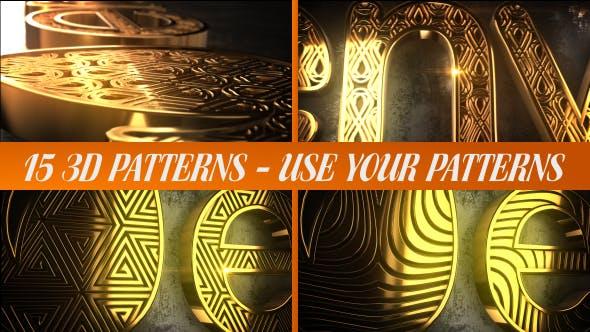Thumbnail for Glaring Pattern Maker Logo Reveal