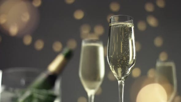 Thumbnail for Festive Bubbles in a Glass of Sparkling Wine