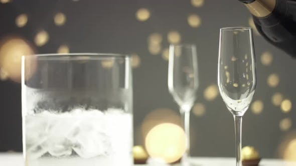 Cover Image for Pouring Champagne Into a Flute Glass