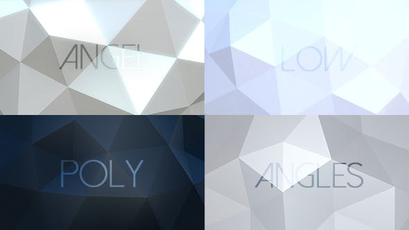 Thumbnail for Angel Angles - Low Poly Backgrounds / 6 Pack