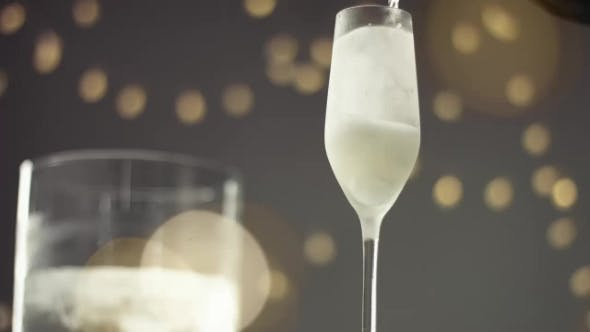 Thumbnail for Pouring Champagne Into a Flute Glass