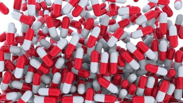 Thumbnail for Falling Multiple Drug Capsules or Pills
