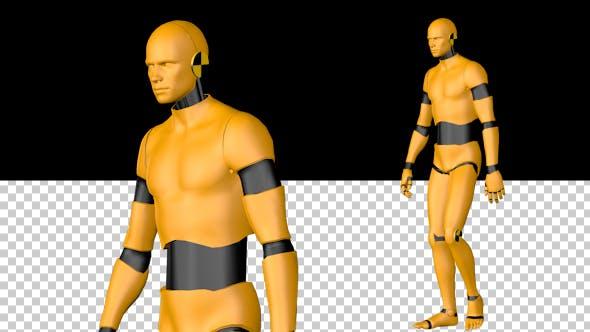 Thumbnail for Crash Test Dummy Walk Animation