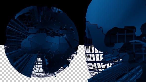 Wired Blue Earth Globe