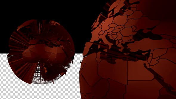 Thumbnail for Wired Red Earth Globe