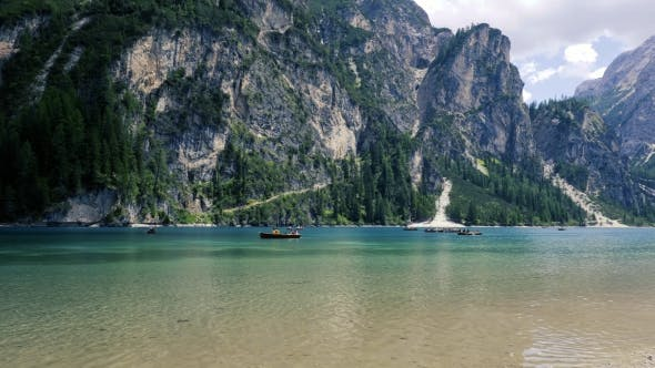 Thumbnail for Lake Lago Di Braies in Dolomites, Italy Alps