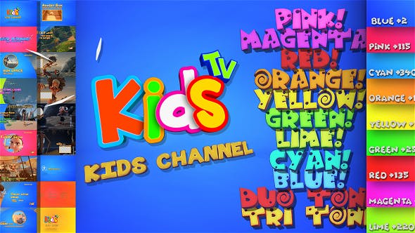Kids And Family Channel Broadcast Graphics Package