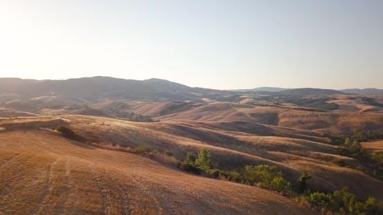Sonnenlicht Felder Italiens