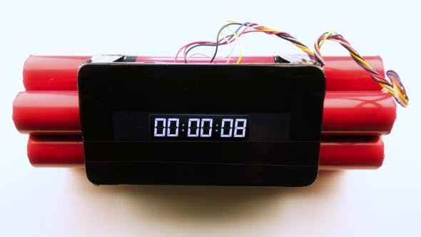 Thumbnail for Red Bomb with Digital Timer