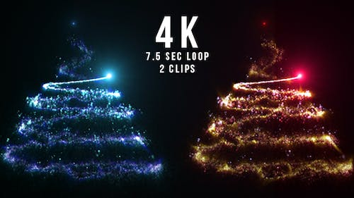 Particles Christmas Tree