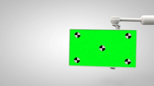 Thumbnail for White Robotic Arm Hold and Moving Green Screen
