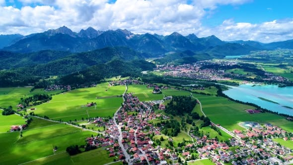 Thumbnail for Panorama From the Air Forggensee and Schwangau, Germany, Bavaria