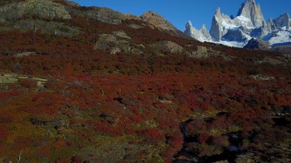 Thumbnail for View of Mount Fitz Roy From the Air. Autumn Dawn. Patagonia, Argentina